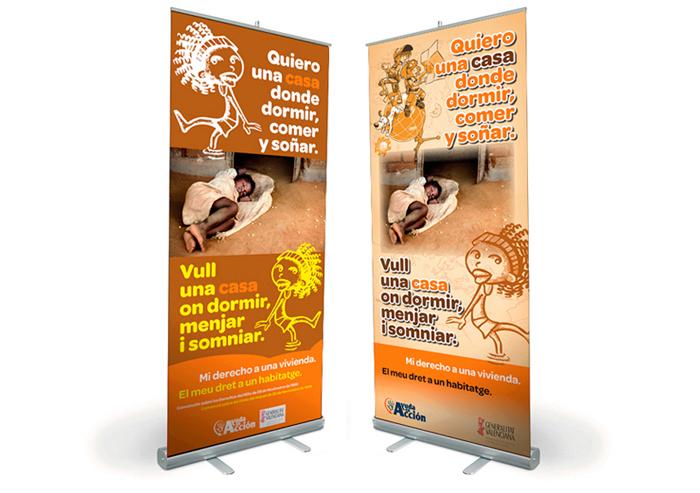 Rollups campaña para niños